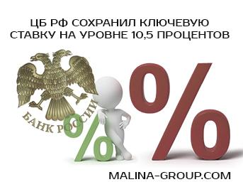 Ключевая ставка 10,5 процентов сохранена