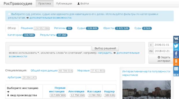 Росправосудие rospravosudie.com объявил о закрытии проекта из-за угроз