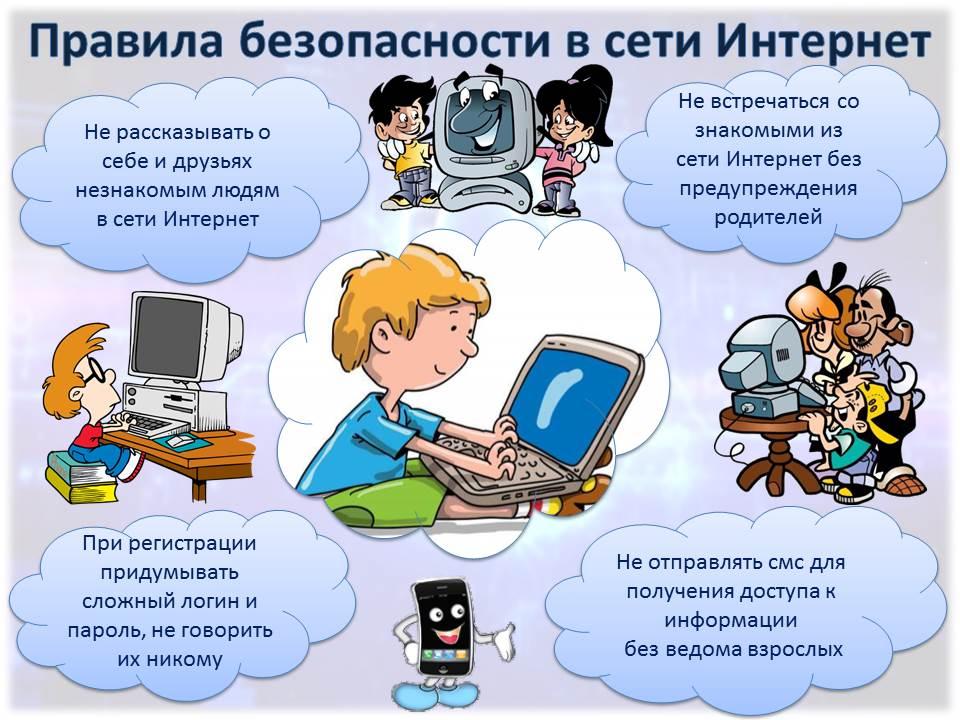 Правила поведения детей в интернете