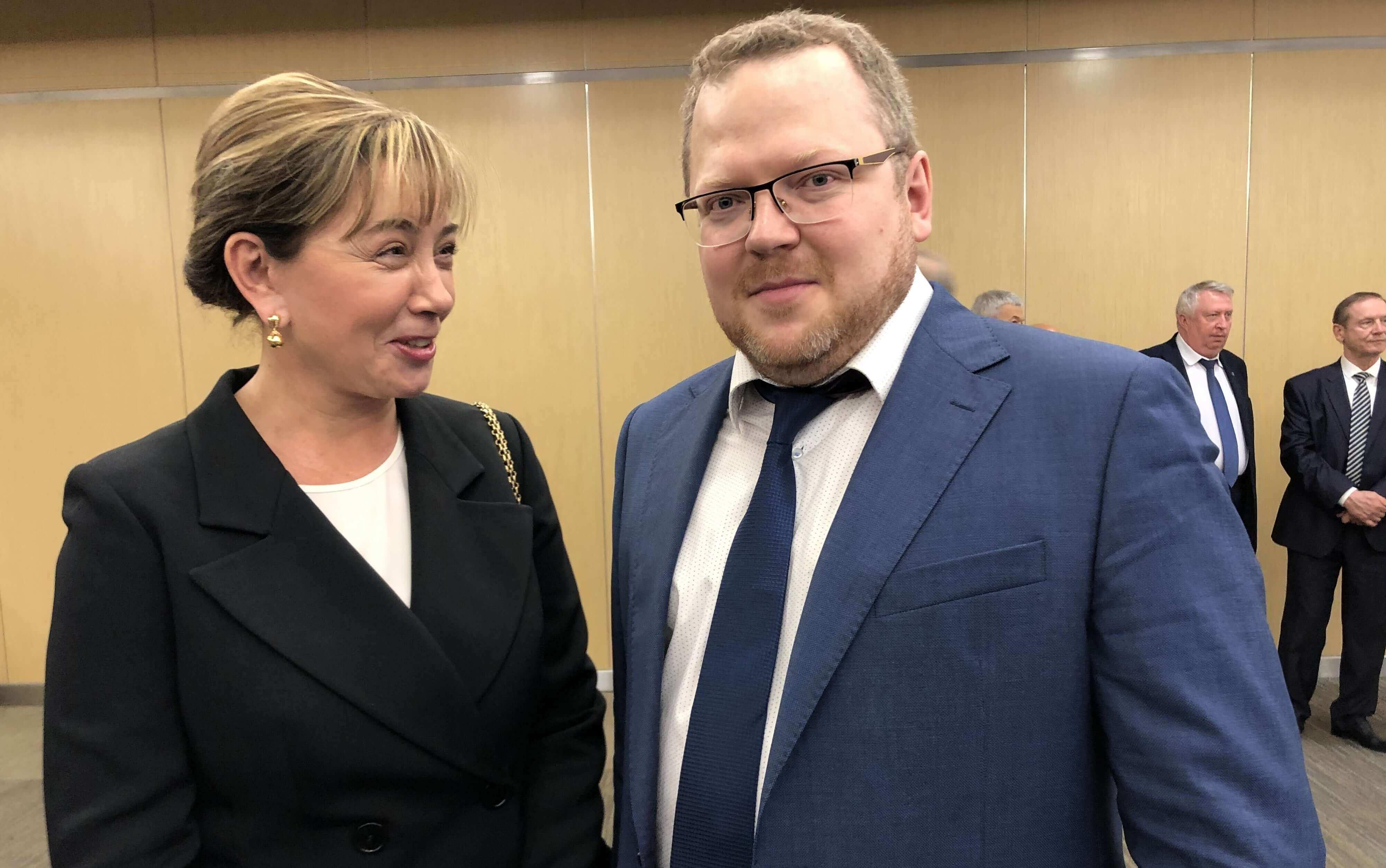 Арина Шарапова с Андреем Суворовым