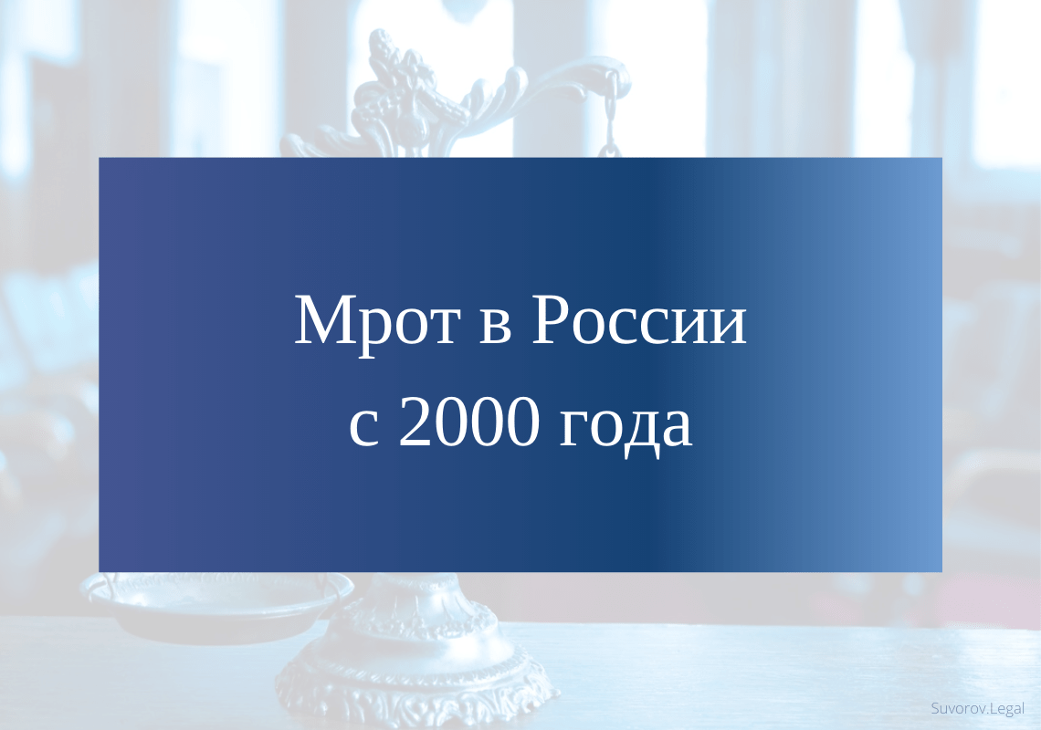 МРОТ в России с 2000 года